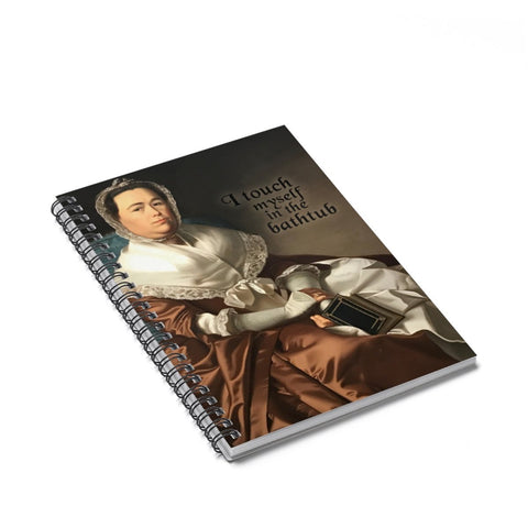 """I touch myself in the bathtub"" Funny Renaissance Style Notebook"