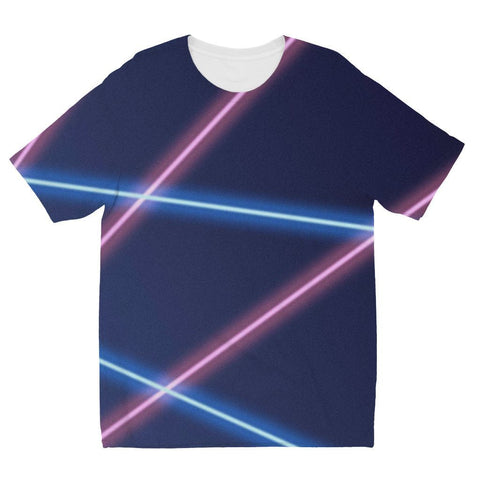 Laser Beams 90's Lasers - Kids Shirt - Polly and Crackers