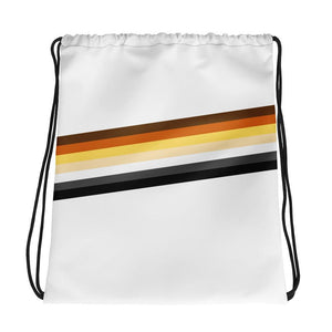 Polly and Crackers Bear Pride Drawstring bag