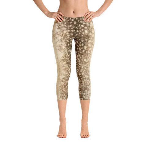 Faux Cheetah - Capri Leggings - Polly and Crackers