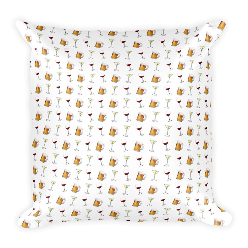 Happy Hour - Square Pillow - Polly and Crackers