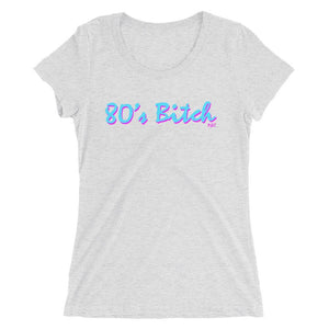 Polly and Crackers S 80's Bitch - Women's Triblend Shirt