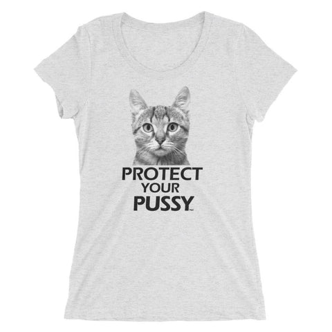 Protect Your Pussy - Women's Scoop Triblend ,  , Polly & Crackers Apparel