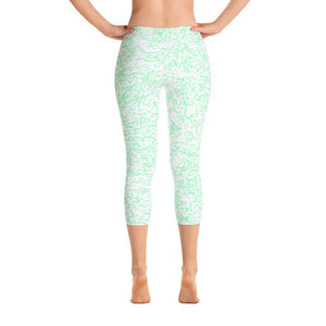 Green Squigs - Capri Leggings - Polly and Crackers