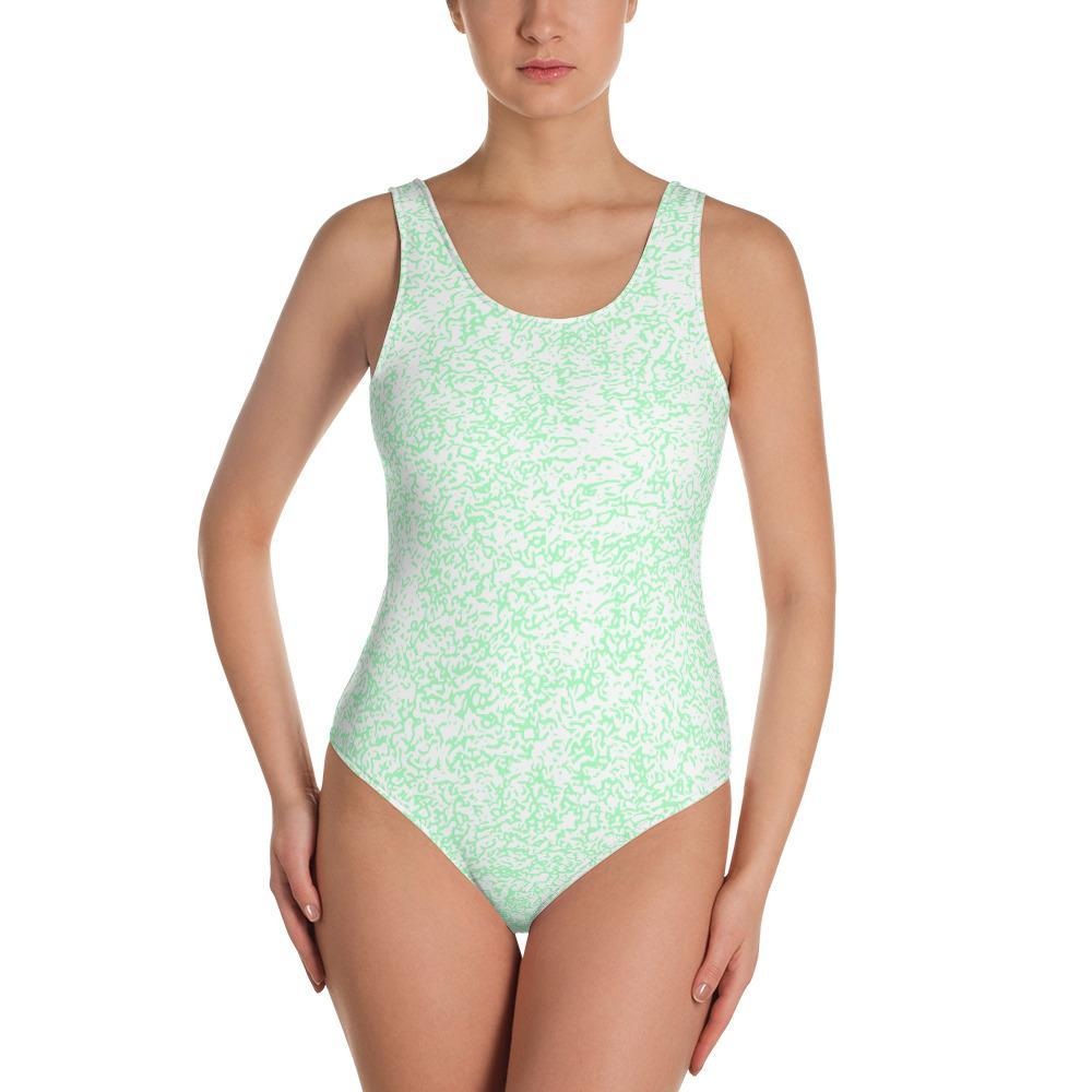 Green Squigs - One-Piece Swimsuit - Polly and Crackers