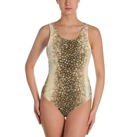 Snow Leopard - One-Piece Swimsuit ,  , Polly & Crackers Apparel