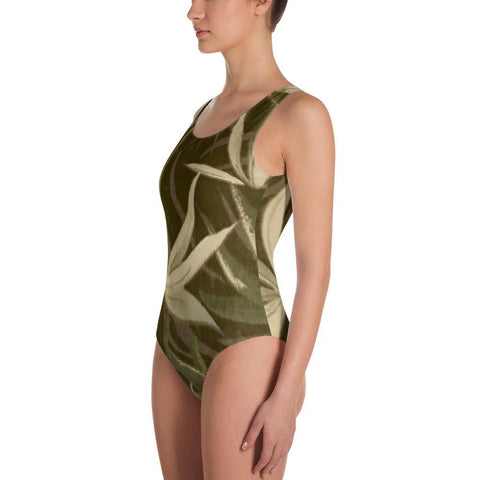Polly & Crackers Bathing Suit Greenery - One-Piece Swimsuit