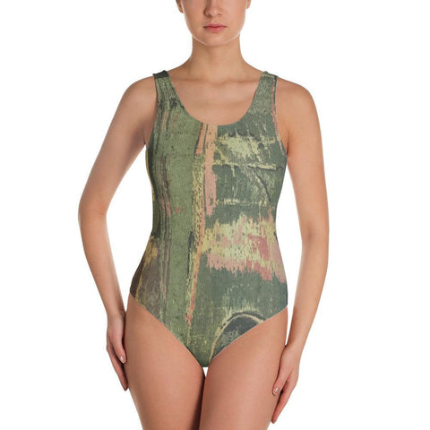 Polly & Crackers Bathing Suit XS Granny's Drapes - One-Piece Swimsuit