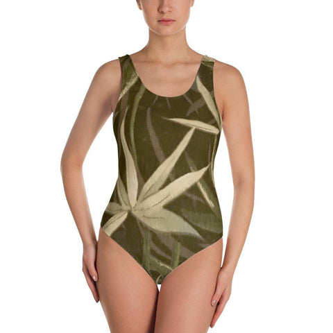 Polly & Crackers Bathing Suit XS Greenery - One-Piece Swimsuit