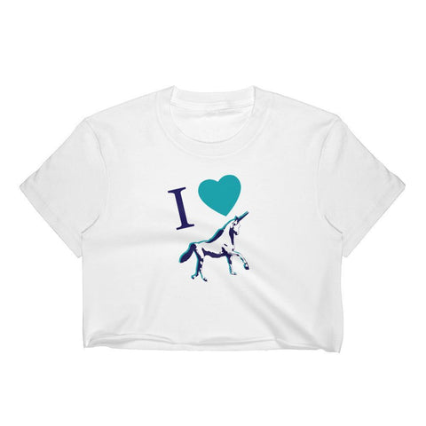 I Love Unicorns - Crop Shirt - Polly and Crackers