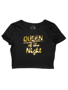 Queen of the Night - Crop Shirt , Crop Top , Polly & Crackers Apparel