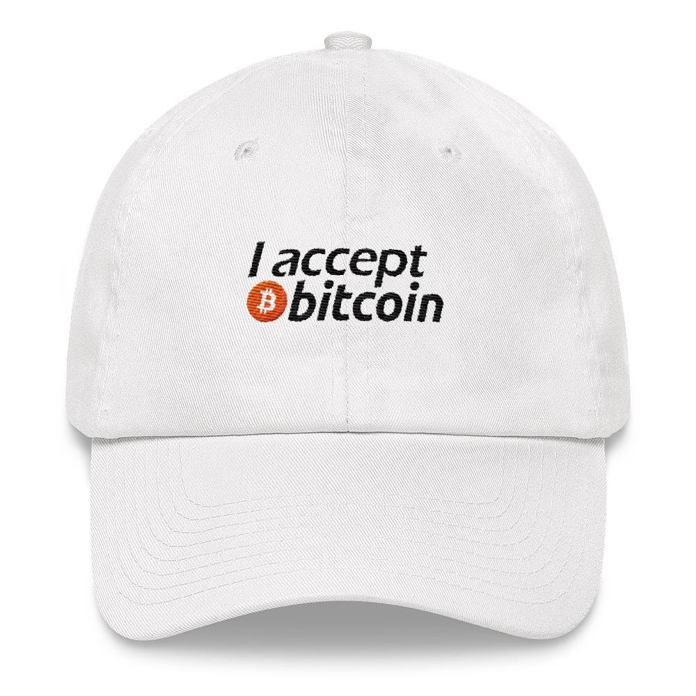 I Accept Bitcoin - Embroidered Hat - Polly and Crackers