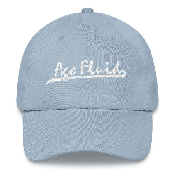 Polly & Crackers Hat Light Blue Age Fluid - Embroidered Dad Hat