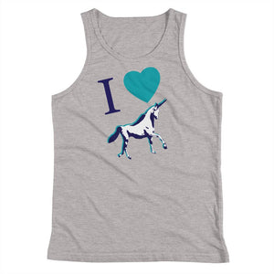I<3 Unicorns - Kids Tank Top - Polly and Crackers