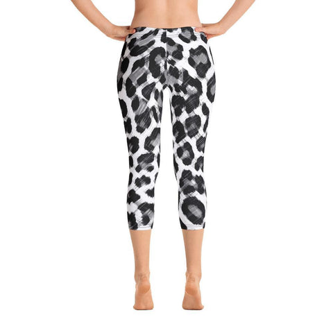 Polly & Crackers Leggings XS Black & White Leopard - Capri Leggings