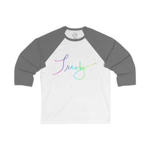Trashy - Unisex 3/4 Sleeve Baseball Tee , Long-sleeve , Polly & Crackers Apparel