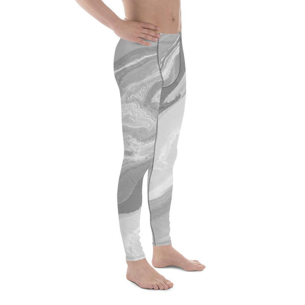 Gray Tie Dye - Men's Leggings - Polly and Crackers