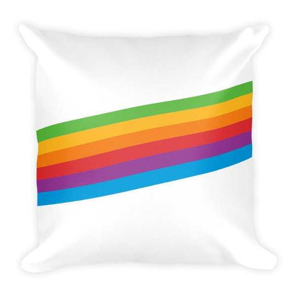 90s Rainbow - Square Pillow - Polly and Crackers