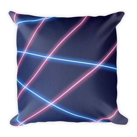 Retro Picture Day Laser Beam Background - Square Pillow , Pillow , Polly & Crackers Apparel
