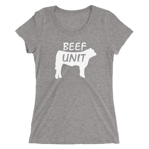 Beef Unit - Women's Triblend Shirt - Polly and Crackers