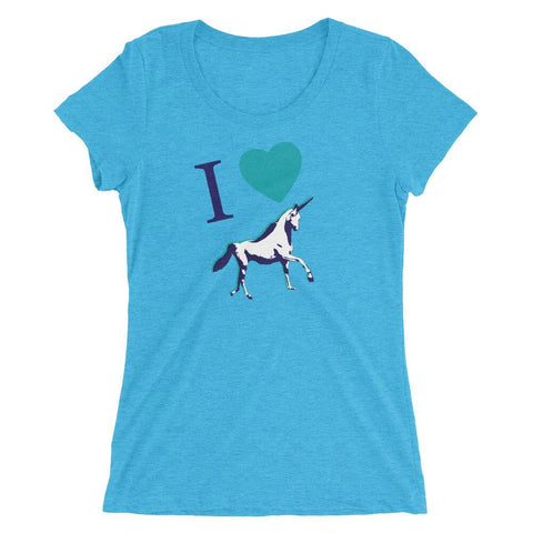 I <3 Unicorns - Women's Triblend Shirt - Polly and Crackers