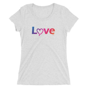 Love - Women's Triblend Shirt - Polly and Crackers