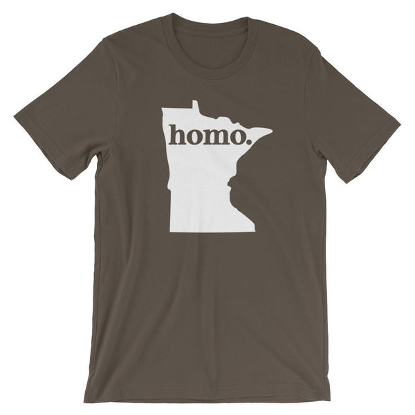 Polly & Crackers Shirt Army / S Homo State Shirt - Minnesota
