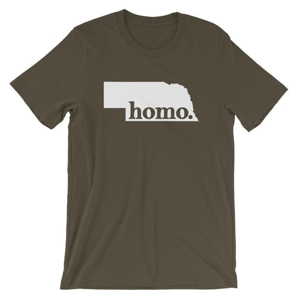 Polly & Crackers Shirt Army / S Homo State Shirt - Nebraska