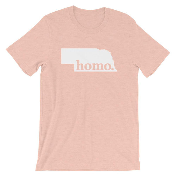 Polly & Crackers Shirt Heather Prism Peach / XS Homo State Shirt - Nebraska