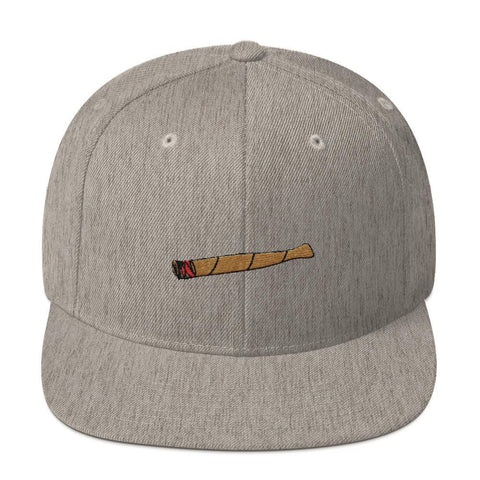 Polly & Crackers Snapback Hat Heather Grey Blunt Life - Wool Snapback Hat