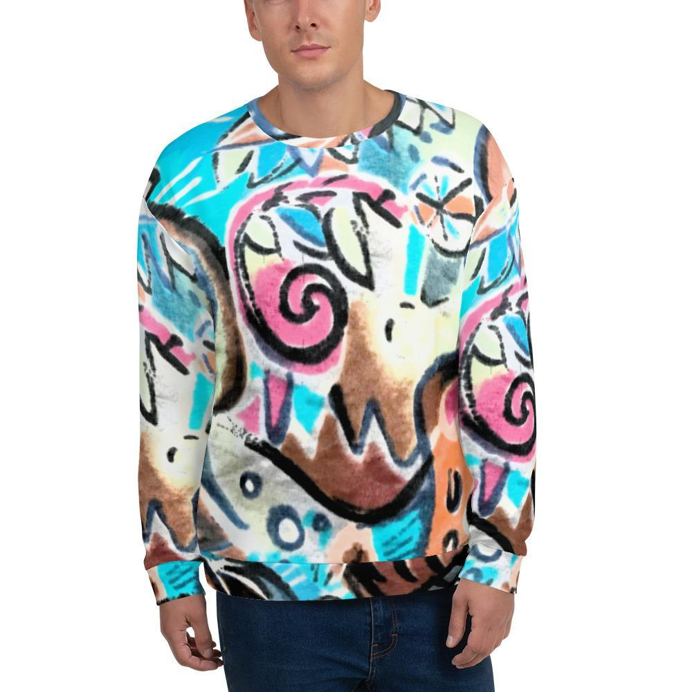 Bus Seat Fabric - Unisex Sublimation Sweatshirt - Polly and Crackers