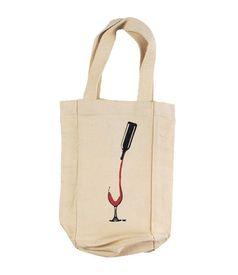 Vino - Wine Tote , Tote , Polly & Crackers Apparel
