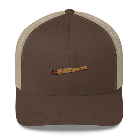 Polly & Crackers Trucker Hat Brown/ Khaki Blunt Life - Trucker Cap