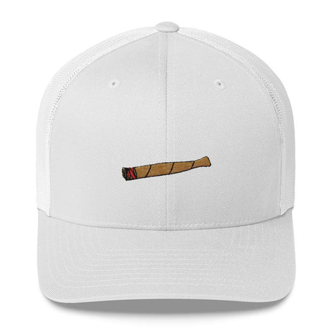 Polly & Crackers Trucker Hat White Blunt Life - Trucker Cap