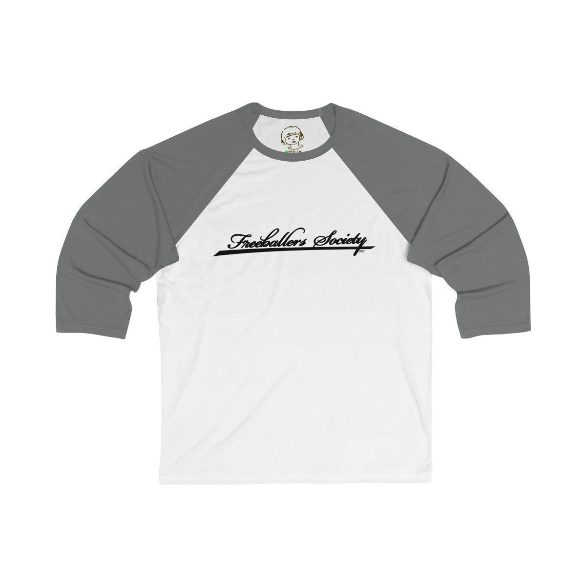 Printify Long-sleeve White/Asphalt / L Freeballers Society - Baseball Tee