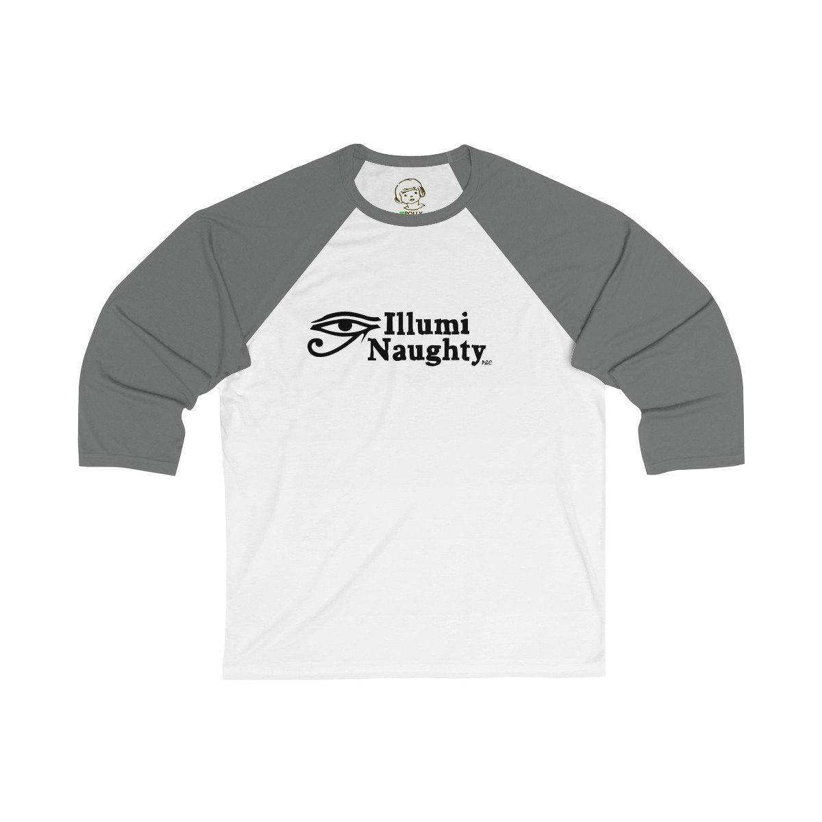 Printify Long-sleeve White/Asphalt / L Illumi Naughty - Baseball Tee