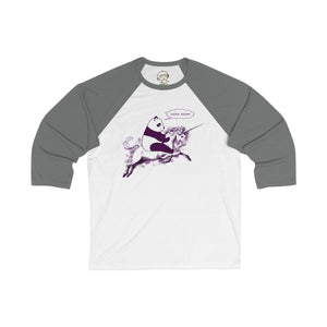 Printify Long-sleeve White/Asphalt / S Faster Bitch! - Unisex 3/4 Sleeve Baseball Tee