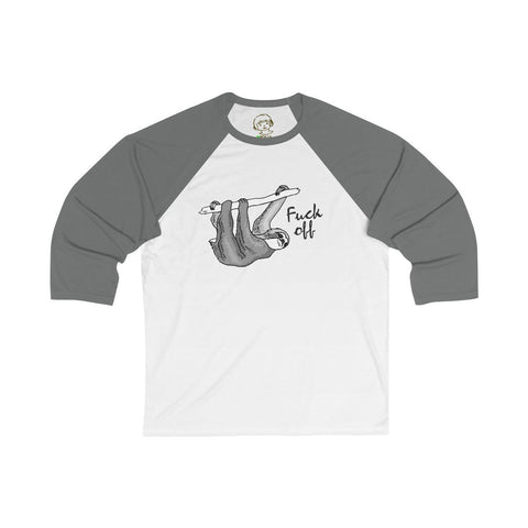 Fuck Off - Unisex 3/4 Sleeve Baseball Tee - Polly and Crackers