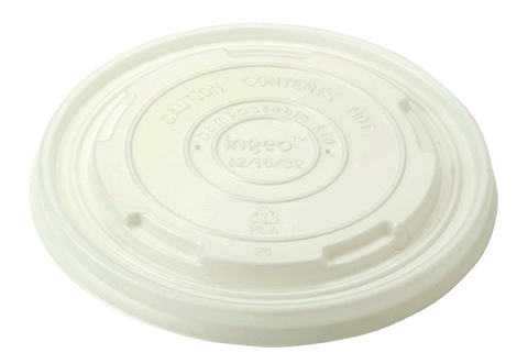 Compostable Clear Flat Lids for NatureBowl 12-32oz, 500/case - C-PAC
