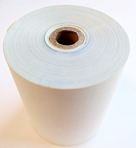"3"" x 90' 2 ply Carbonless Bond Receipt Rolls White/Yellow, Case of 50"