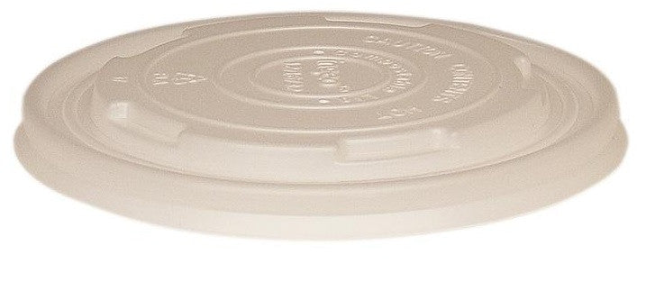 Compostable Clear Flat Lids for NatureBowl 8oz, 1000/case - C-PAC