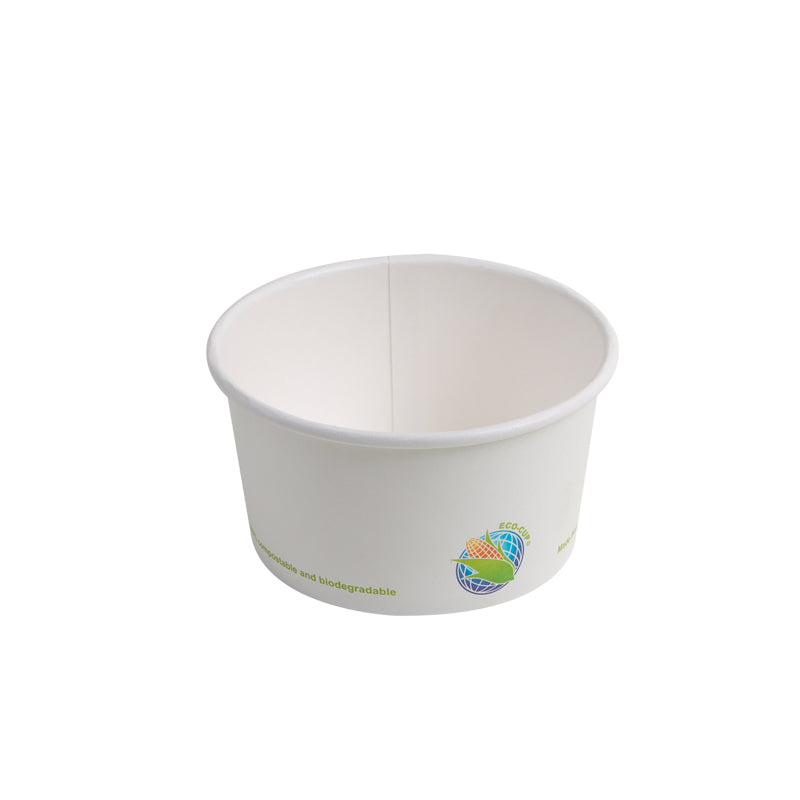 Eco-Packaging 12oz Compostable PLA Lined (Plant Based) Paper Takeout Food Container Bowls, Case of 500