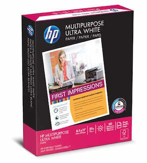 HP Multipurpose Ultra White, 8.5 x 11 20lb 96 Bright, 1 Pallet (40 cases per pallet, 10 reams per case)