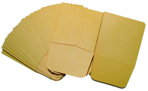 "Brown Kraft Coin Envelopes 2.5""x4.25"", 500/box - C-PAC"