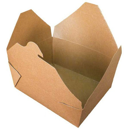 "GreenPak Recyclable #8 Kraft Take Out Food Box 6.75"" x 5.5"" x 2.5"", Case of 300"