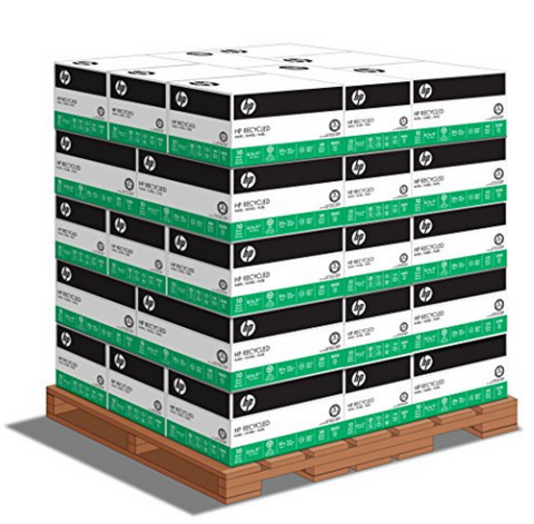HP 30% Recycled, 8.5 x 11 20lb 92 Bright, 1 Pallet (40 cases per pallet, 10 reams per case)