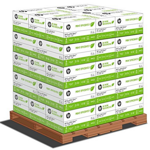 HP EcoFFICIENT, 8.5 x 11 16lb 92 Bright, 1 Pallet (48 cases per pallet, 8 reams per case)