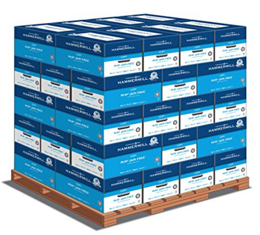 Hammermill Copy Plus, 8.5 x 11 20lb 92 Bright, 1 Pallet (40 cases per pallet, 10 reams per case)