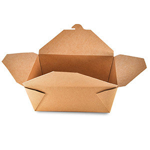 "GreenPak Recyclable #4 Kraft Take Out Food Box  8.5"" x 6.25"" x 3.5"", Case of 160"