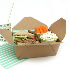Fold Top Box Kraft Take Out Food Boxes